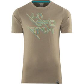 La Sportiva M's Sliced Logo T-Shirt Falcon Brown